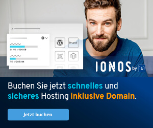Hosting bei 1&1 Ionos Webhosting
